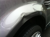 Dented Range Rover