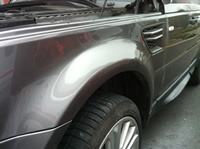 Repaired dent in Range Rover